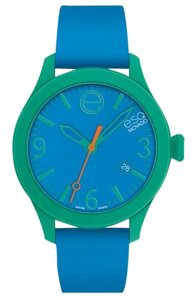 ESQ ESQ07101456 Unisex Blue Silicone Bracelet With Blue Analog Dial Watch