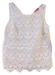 Lilly Pulitzer for Target Lace Top White