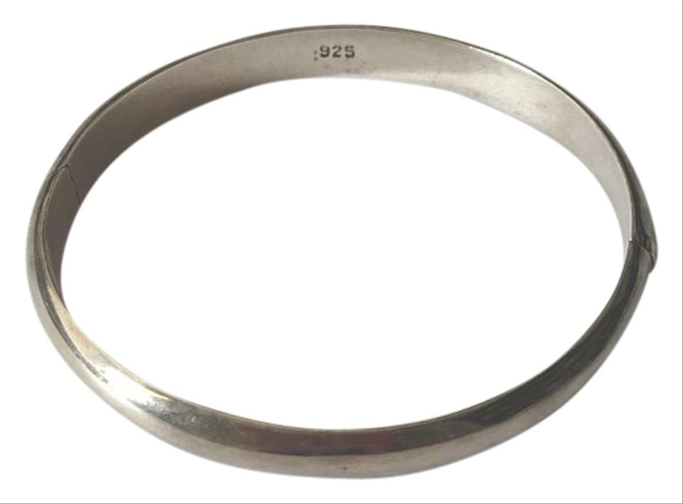 silver bracelet bangle tradesy sterling hinged bangles i