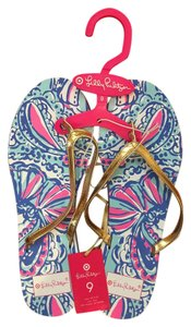 Lilly Pulitzer for Target Flip Flops Seashell Print Sandals