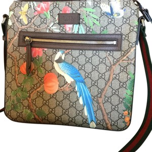 d45786dec446 Brown and Floral Leather Other Material Messenger Bag - Tradesy