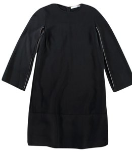 Givenchy White Piping Open Split Sleeve Dress