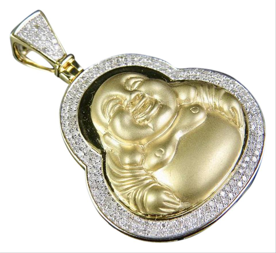 Jewelry unlimited 10k yellow gold mens genuine diamond matte jewelry unlimited mens 10k yellow gold genuine diamond matte laughing buddha pendant aloadofball Image collections