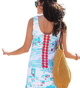 "Lilly Pulitzer short dress Resort White ""Watch Out"" lighthouse print on Tradesy"