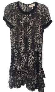 toile Isabel Marant short dress Leopard print grays, beiges and black. on Tradesy