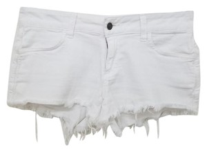 Siwy Frayed Casual Mini/Short Shorts White