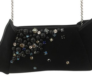 Swarovski With Jewels Black Suede Shoulder Bag 73 Off Retail