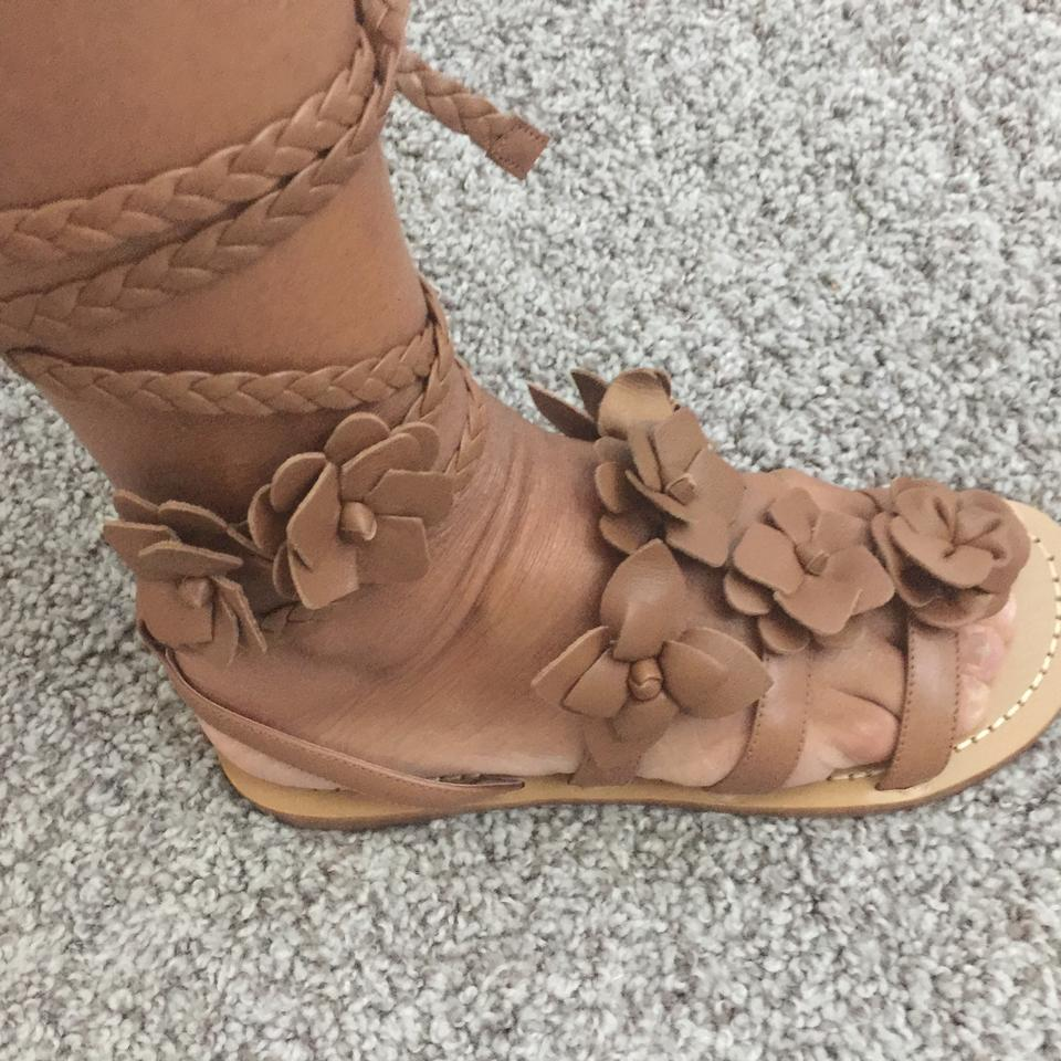 d506fd590241 Tory Burch Royal Tan Blossom Gladiator Sandals. Size  US 7.5 Regular ...