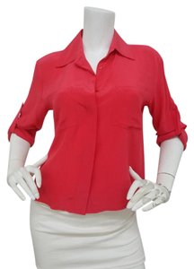 Chelsea Flower Casual Top Coral Red