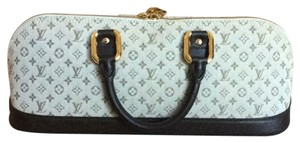 Louis Vuitton Satchel in Khaki and Brown with Goldtone Hardware