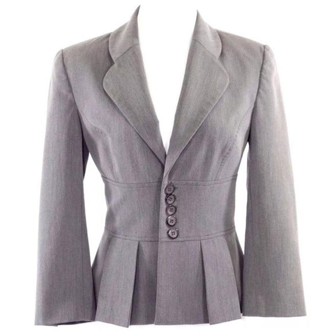 Item - Gray Fitted Career 38 Jacket Size 2 (XS)