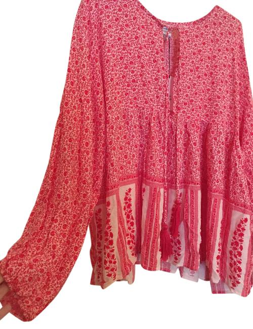 Item - Red Boho New with Tags Blouse Size 12 (L)