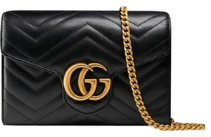Gucci Vintage Leather Chain Cross Body Bag