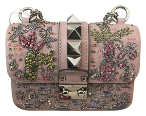 Valentino Studded Beaded Leather Cross Body Bag