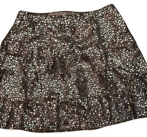 Express Mini Skirt silver sparkly