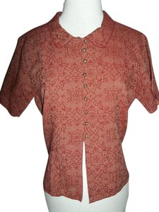 The Territory Ahead Small Cotton Button Down Shirt red