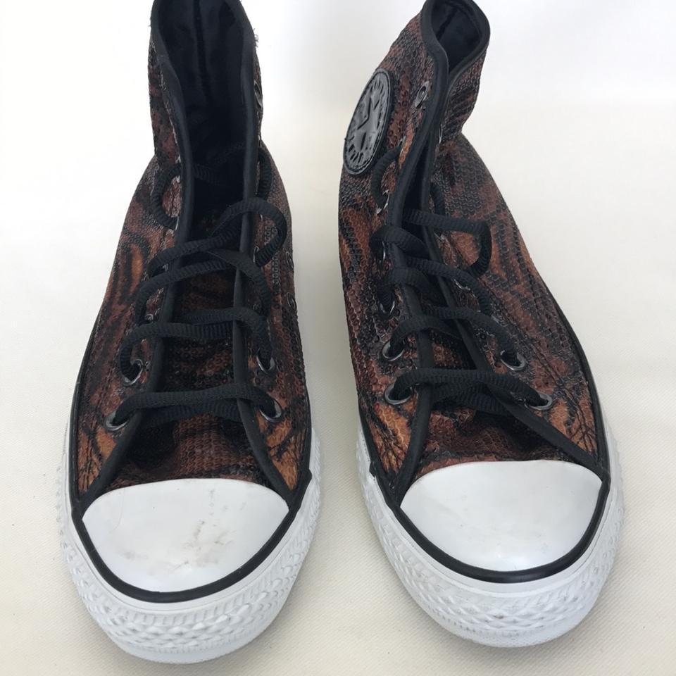 fae92536b47 Converse High Top Sneakers Animal Print Leopard Athletic Image 4. 12345