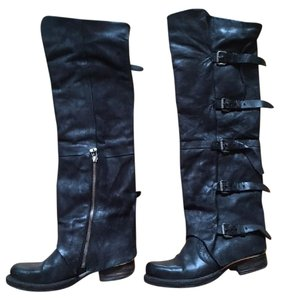 A.S. 98 As98 Tatum Black leather Boots