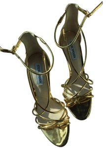 Steve Madden Strappy Gold Sexy Metallic Gold Sandals