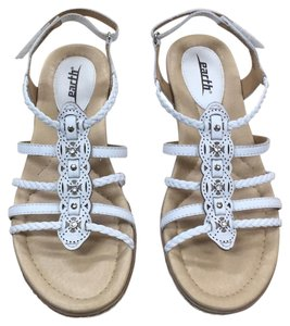 Earth white with silver detail Sandals
