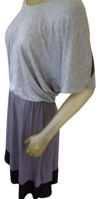 Item - Gray Black Blouson Gray/ Mid-length Short Casual Dress Size 8 (M)