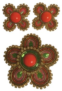 Other Sensational 70's Pin & Clip--On Earrings; Flower Power [ Roxanne Anjou Closet ]