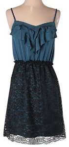 Xhilaration short dress Teal & Black on Tradesy