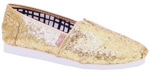 ballo Toms New Gold Glitter Flats