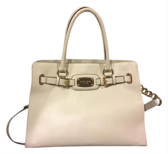 Item - Gold Accents Ivory Leather Tote