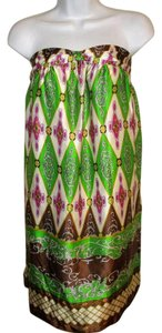 Nell Couture short dress Multi-Color Strapless Silk Made In Usa 3 on Tradesy