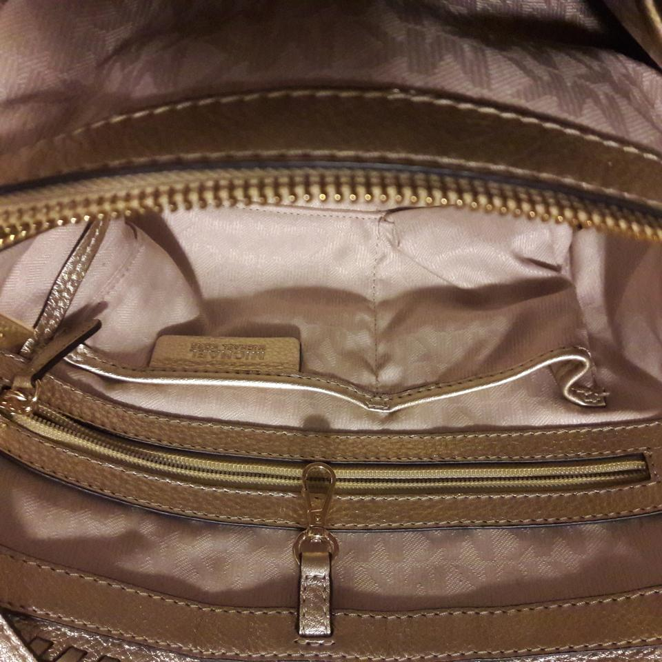 1f0f42c99040 Michael Kors Rosalie Md East West Four-weave Leather Gold Straw Tote -  Tradesy
