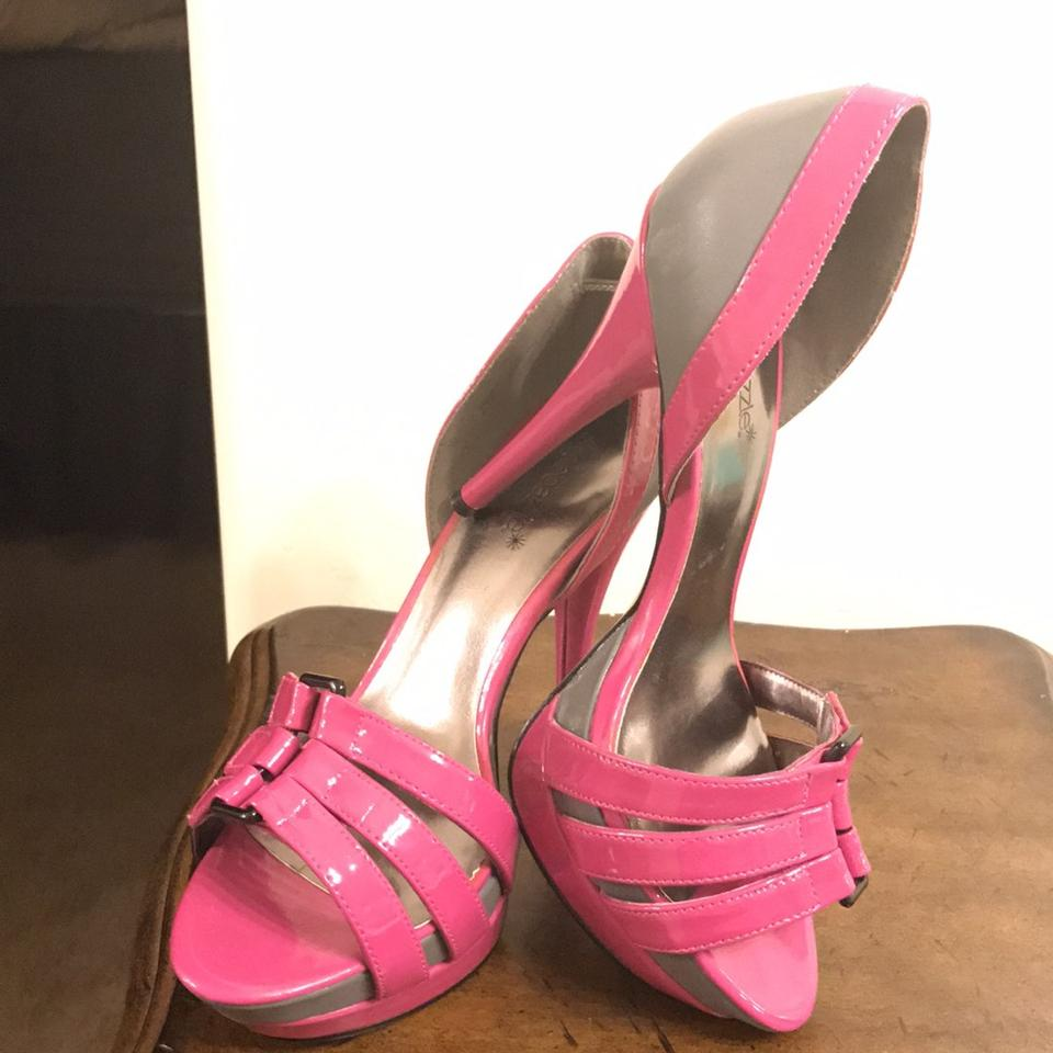 d28171bd718 ShoeDazzle Hot Pink and Gray Trouble Platforms Size US 8.5 Regular (M, B)  45% off retail