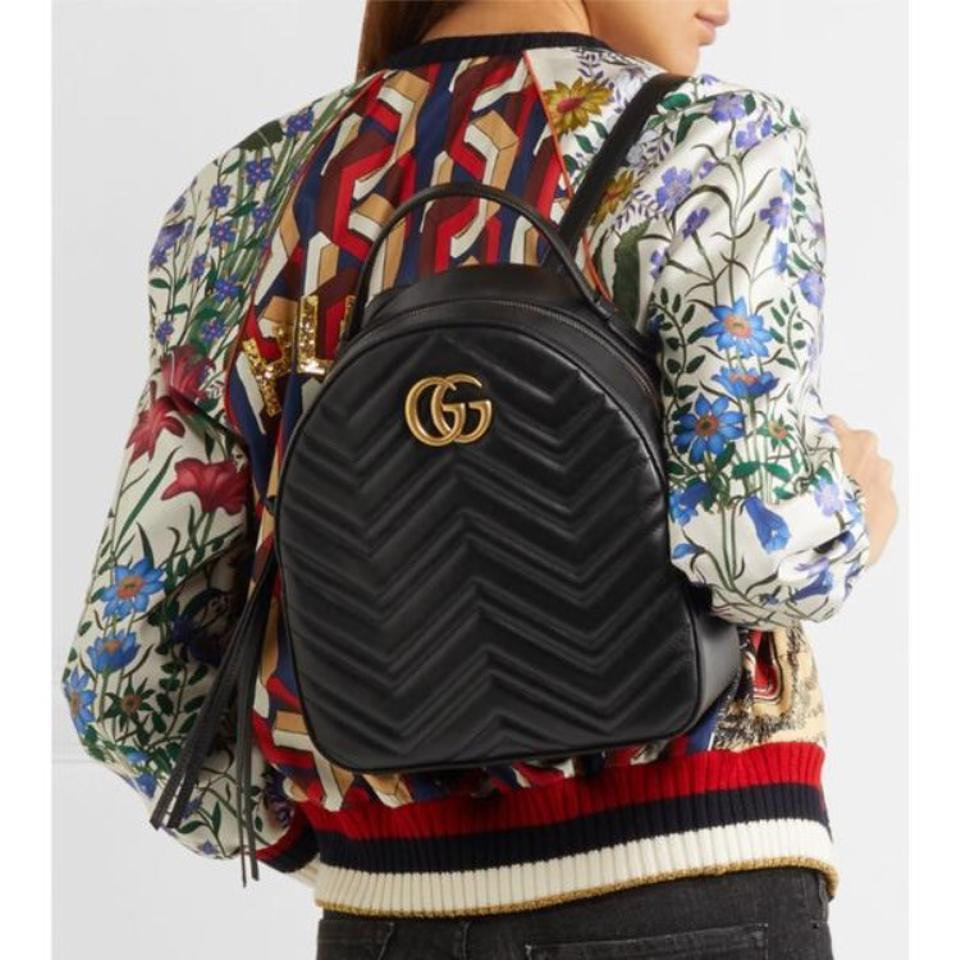 63e28778f46 Gucci Marmont Quilted Leather Backpack - Tradesy