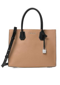 Michael Kors Mercer Studio Logo Tote in cashew black