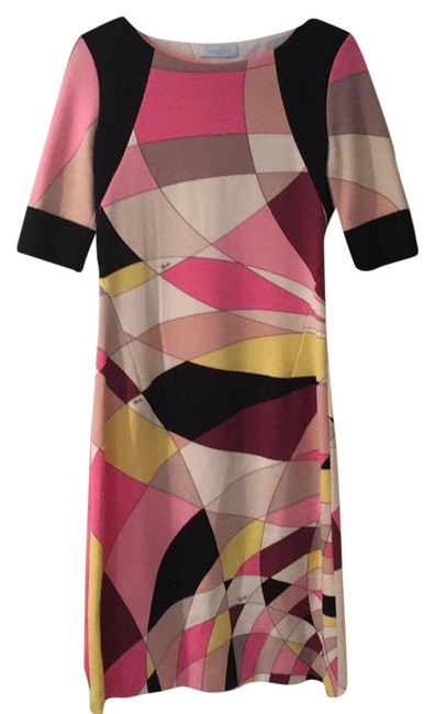 Preload https://img-static.tradesy.com/item/21682409/emilio-pucci-multi-color-classic-mid-length-night-out-dress-size-8-m-0-1-650-650.jpg