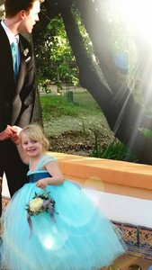 Aqua Blue Classic Flower Girl Tutu Dress Dress