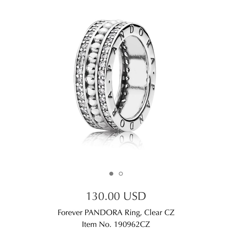 43ad92294 PANDORA Sterling Silver 925 Ale Item. Size 56 Or 7.5 Ring - Tradesy