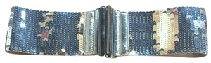 Other Silver Stretch Sequined Belt