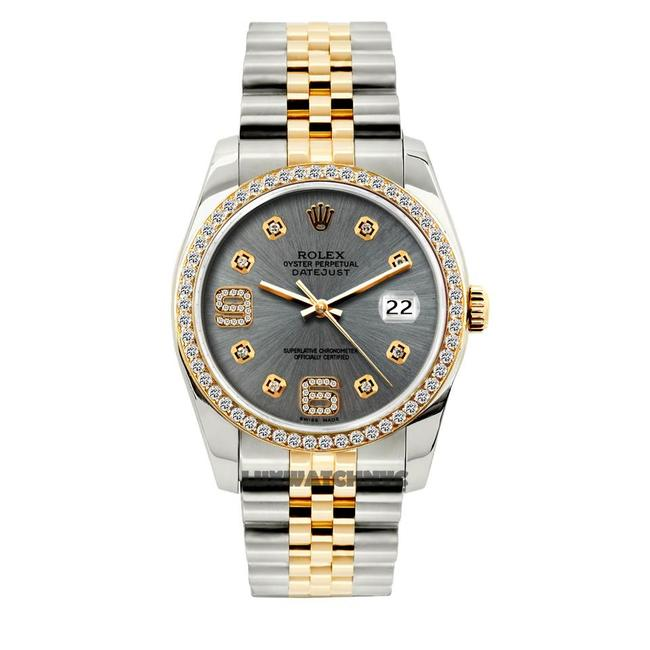 Rolex Gray Dial 1.5ct 36mm Men's Datejust 2-tone with Appraisal Watch Rolex Gray Dial 1.5ct 36mm Men's Datejust 2-tone with Appraisal Watch Image 1