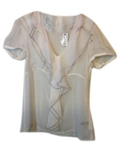 The Limited Top Ivory with black thread