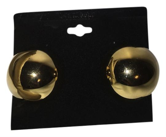 Other Golden Domes Vintage Earrings (Pierced) 1980's [ Roxanne Anjou Closet ]