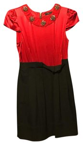 BCBGMAXAZRIA short dress black and red on Tradesy