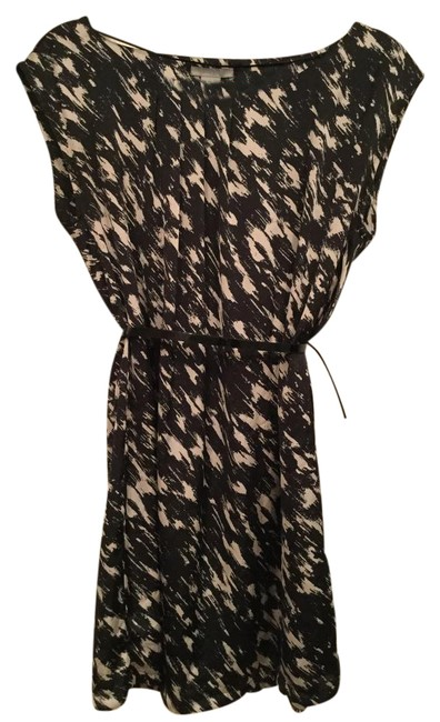 Item - Black and Cream Printed Short Night Out Dress Size 8 (M)