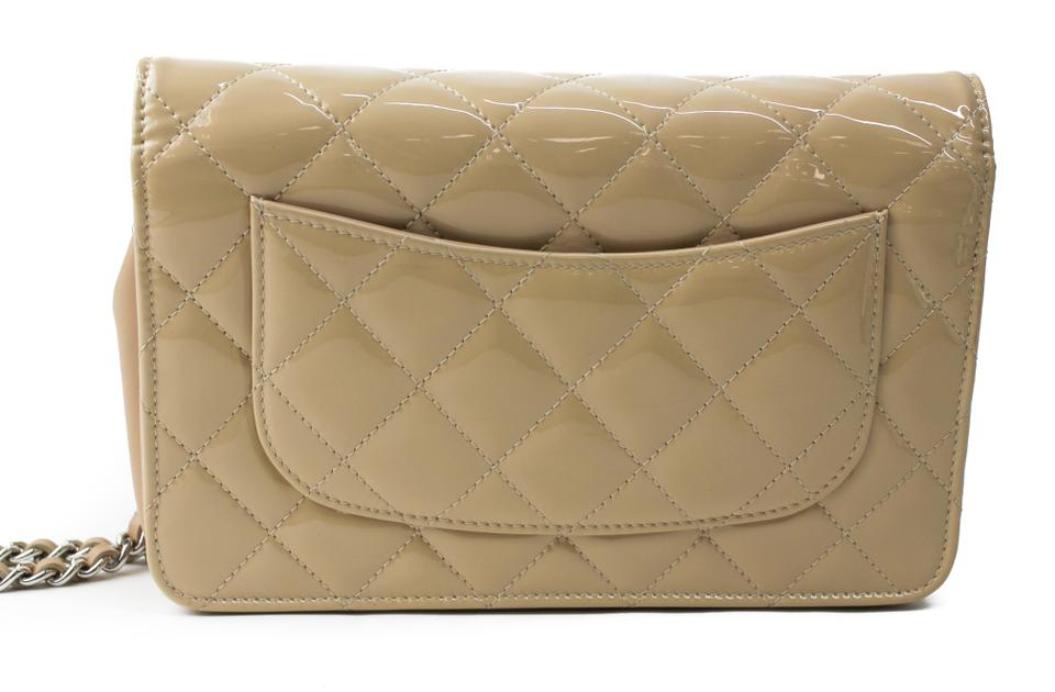 1781c6d1b20f Chanel Wallet on Chain Cream Woc Tan Patent Leather Cross Body Bag ...