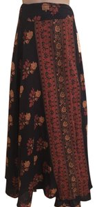 Free People Maxi Skirt Navy Combo