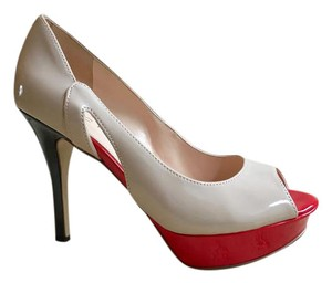Marc Fisher Patent Tumble 7 Red and black Pumps