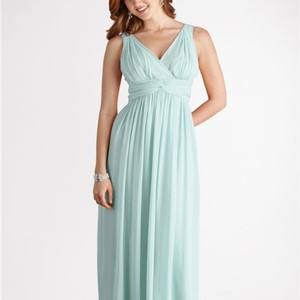 Donna Morgan Beachglass Chiffon Julie Destination Bridesmaid/Mob Dress Size 12 (L)