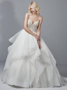 Sottero and Midgley Ivory Tulle/Horsehair Micah Formal Wedding Dress Size 20 (Plus 1x)