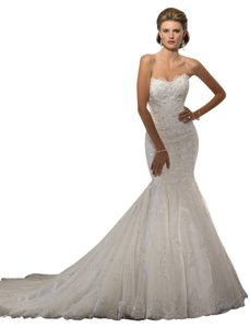 Sottero and Midgley Ivory Lace/Tulle Tracey Formal Wedding Dress Size 8 (M)