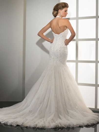 Sottero and Midgley Ivory Lace/Tulle Tracey Formal Wedding Dress Size 8 (M) Image 1